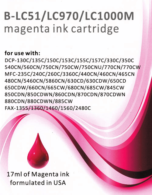 26 INK 8BK for BROTHER MFC 240C 440CN 665CW 845CW LC51